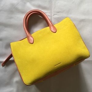 NWOT JIL SANDER/ Suede and leather tote bag